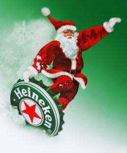 Heineken kerstman