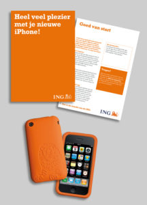 oranje iPhone skin