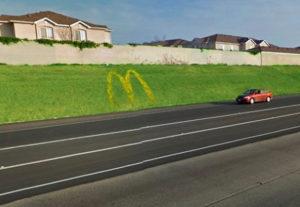 McDonalds flower vertising