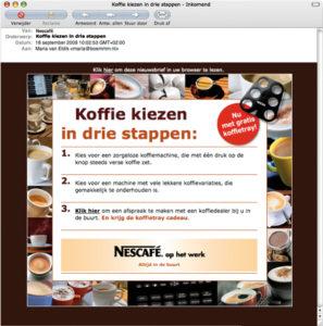 Nescafé online reclame