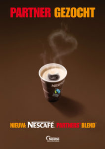 reclame voor fairtrade koffie