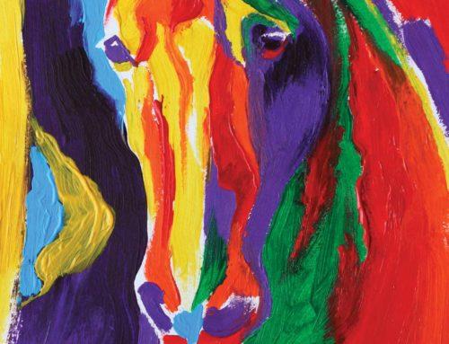 Paard in acrylverf