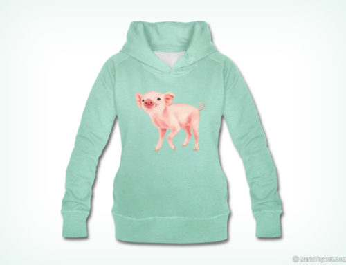Blij biggetje – hoodie